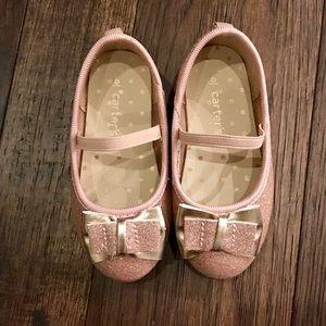 Carter's Kids Ballet Flat- Rose Gold- Size 6